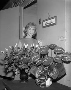 "Barbara Eden outside of her dressing room on the set of ""The Brass Bottle""1964 Universal** B.D.M. - Image 24293_0843"