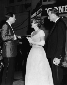 """Army Archerd, Olivia de Havilland and Rupert Allan at the West Coast Premiere of the 70mm edition of """"Gone with the Wind"""" at the Carthay Circle TheaterOctober 11, 1967** B.D.M. - Image 24293_0847"""