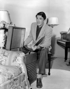 Gregory Peck at homecirca 1945** B.D.M. - Image 24293_0874