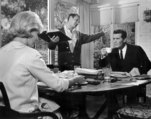 """Doris Day, director Norman Jewison and James Garner on the set of """"The Thrill of It All""""1963 Universal** B.D.M. - Image 24293_0879"""