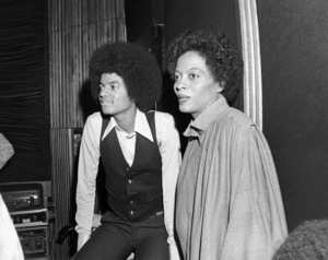 "Michael Jackson and Diana Ross at a recording session for ""The Wiz""1978 Universal** B.D.M. - Image 24293_0885"