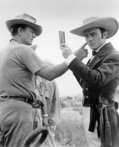 "John Wayne and Laurence Harvey on set of ""The Alamo""1960 United Artists** B.D.M. - Image 24293_0891"
