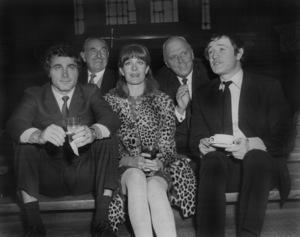"Franco Nero, Jack L. Warner, Vanessa Redgrave, Joshua Logan and Richard Harris on the set of ""Camelot""1967 Warner Bros.** B.D.M. - Image 24293_0909"