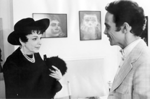 """Judy Garland visits Joel Grey backstage at the Palace Theatre in New York after a performance of """"George M.""""1968** B.D.M. - Image 24293_0950"""
