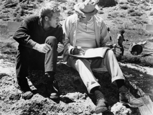 """Steve McQueen and director Henry Hathaway during the making of """"Nevada Smith""""1966 Paramount** B.D.M. - Image 24293_0975"""