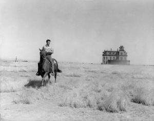 """Rock Hudson on location for """"Giant"""" in Marfa, Texas1955 Warner Bros.Photo by Floyd McCarty** B.D.M. - Image 24293_0995"""