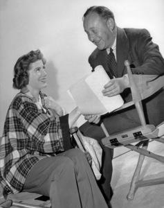 "Sarah Churchill and producer Arthur Freed on the set of ""Royal Wedding""1951 MGM** B.D.M. - Image 24293_1023"