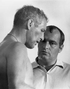 "Paul Newman and director Stuart Rosenberg on the set of ""Cool Hand Luke""1967 Warner Bros.** B.D.M. - Image 24293_1096"