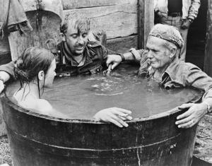 "Vadim Glowna and director Sam Peckinpah on the set of ""Cross of Iron""1977 Avco Embassy** B.D.M. - Image 24293_1098"