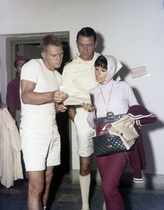 """Steve McQueen, Richard Crenna and Neile Adams on the set of """"The Sand Pebbles""""1966 20th Century-Fox** B.D.M. - Image 24293_1128"""