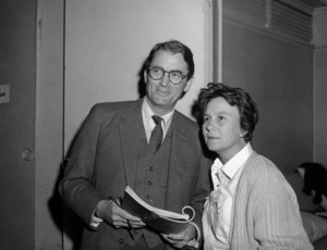 "Gregory Peck and Harper Lee on the set of ""To Kill a Mockingbird""1962 Universal** B.D.M. - Image 24293_1214"