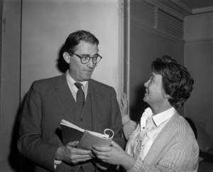 "Gregory Peck and Harper Lee on the set of ""To Kill a Mockingbird""1962 Universal** B.D.M. - Image 24293_1215"