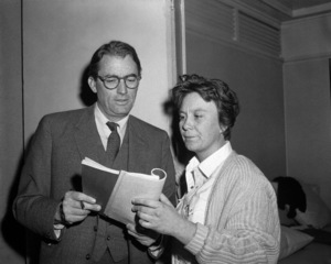 "Gregory Peck and Harper Lee on the set of ""To Kill a Mockingbird""1962 Universal** B.D.M. - Image 24293_1216"