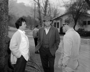 """Harper Lee, Gregory Peck and director Robert Mulligan on the set of  """"To Kill a Mockingbird""""1962 Universal** B.D.M. - Image 24293_1217"""
