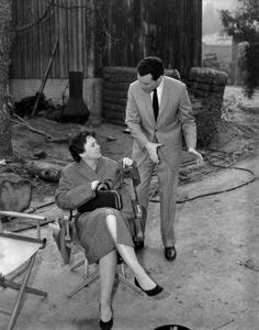 "Harper Lee and producer Alan Pakula on the set of ""To Kill a Mockingbird""1962 Universal** B.D.M. - Image 24293_1218"