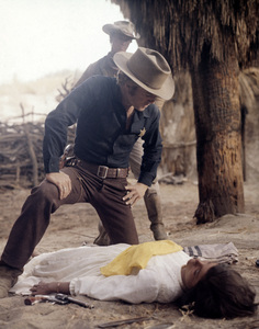 """Robert Redford and Katharine Ross in """"Tell Them Willie Boy Is Here""""1969 Universal** B.D.M. - Image 24293_1265"""