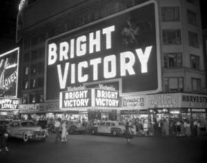 Marquee of the Victoria theatre in New York