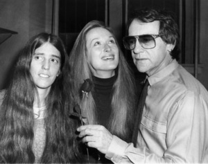 """Elizabeth Swados, Meryl Streep and Joseph Papp after the opening night performance of """"Alice in Concert""""January 9, 1981** B.D.M. - Image 24293_1312"""