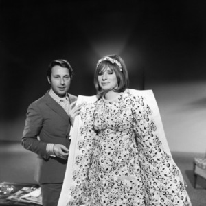 """Arnold Scaasi and Barbra Streisand during a costume fitting for """"On a Clear Day You Can See Forever""""1970 Paramount** B.D.M. - Image 24293_1351"""