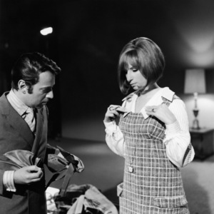 """Arnold Scaasi and Barbra Streisand during a costume fitting for """"On a Clear Day You Can See Forever""""1970 Paramount** B.D.M. - Image 24293_1352"""