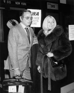 David Janssen and wife Dani Crayne at Los Angeles International Airportcirca 1975Photo by William Eccles** B.D.M. - Image 24293_1450