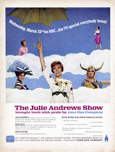 """Julie Andrews in a magazine ad for her TV Special, """"The Julie Andrews Show""""1965** B.D.M. - Image 24293_1452"""
