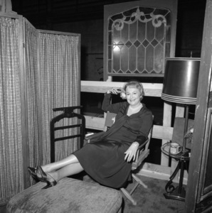 "Olivia de Havilland on the set of ""Airport"