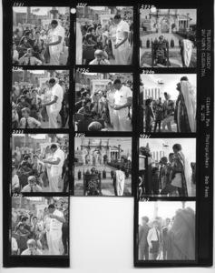 "Elizabeth Taylor, Eddie Fisher, Liza Todd, Joseph L. Mankiewicz, Roddy McDowall and Richard Burton on the set of ""Cleopatra""1963 20th Century-FoxPhotos by Bob Penn** B.D.M. - Image 24293_1500"