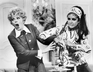 """Lucille Ball and Elizabeth Taylor in """"Here"""