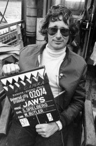 """Director Steven Spielberg on the set of """"Jaws""""1975 Universal** B.D.M. - Image 24293_1540"""
