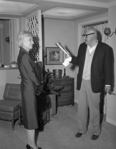 "Barbara Stanwyck and William Castle on the set of ""The Night Walker""1964 Universal** B.D.M. - Image 24293_1569"