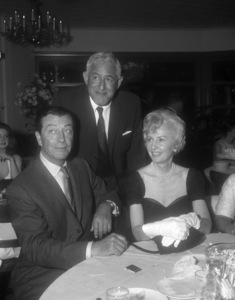 """Robert Taylor, William Castle and Barbara Stanwyck at a party for """"The Night Walker""""1964 Universal** B.D.M. - Image 24293_1570"""