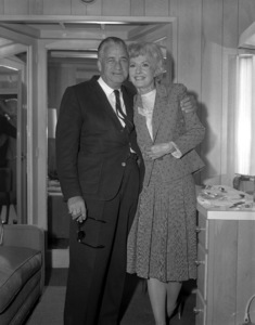 """Mervyn Leroy and Barbara Stanwyck on the set of """"The Night Walker""""1964 Universal** B.D.M. - Image 24293_1571"""