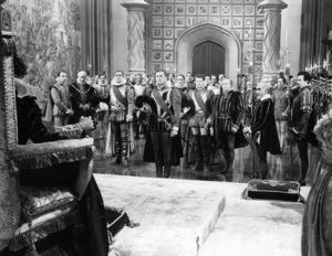 "Henry Daniel, Henry Stephenson, James Stephenson, Robert  Warwick, Errol Flynn, Ralph Forbes and Donald Crisp in ""The Private Lives of Elizabeth and Essex""1939 Warner Bros.** B.D.M. - Image 24293_1577"