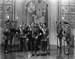 "Robert Warwick, Errol Flynn, Leo G. Carroll and Ralph Forbes  in ""The Private Lives of Elizabeth and Essex""1939 Warner Bros.** B.D.M. - Image 24293_1579"