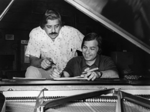 "Robert B. Sherman and Richard M. Sherman on the set of ""Tom Sawyer""1973 United Artists** B.D.M. - Image 24293_1609"