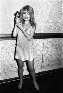 """Pia Zadora with her """"New Star of the Year - Actress"""" Golden Globe award 1982** B.D.M. - Image 24293_1694"""