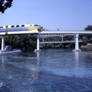 Monorail ride at Disneyland, Anaheim, California1968** B.D.M. - Image 24293_1721