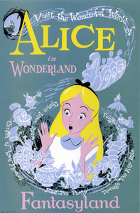 "Disneyland ""Alice in Wonderland"" poster** B.D.M. - Image 24293_1729"