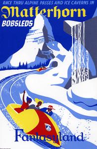 Disneyland Matterhorn poster** B.D.M. - Image 24293_1734
