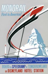 Disneyland Monorail poster** B.D.M. - Image 24293_1735