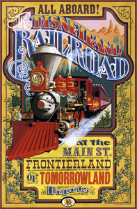 Disneyland Railroad poster** B.D.M. - Image 24293_1736