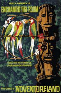 Disneyland Enchanted Tiki Room poster** B.D.M. - Image 24293_1737