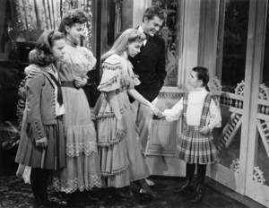 Joan Carroll, Lucille Bremer, Judy Garland, Henry H. Daniels, Jr. and Margaret O