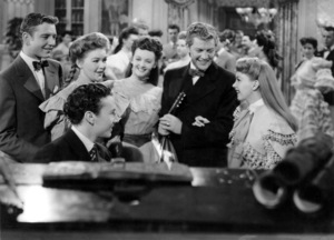 """Tom Drake, Lucille Bremer, Henry H. Daniels, Jr. and Judy Garland in """"Meet Me in St. Louis""""1944 MGM** B.D.M. - Image 24293_1762"""