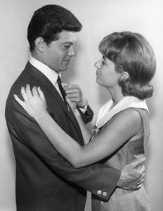 """Frankie Avalon and Patty Duke on """"The Patty Duke Show"""" (Episode: A Foggy Day in Brooklyn Heights)1966** B.D.M. - Image 24293_1768"""