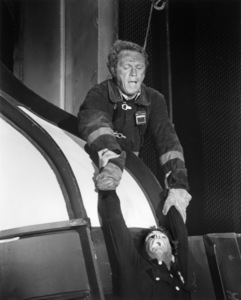 """Steve McQueen and Ernie Orsatti in """"The Towering Inferno""""1974 20th Century-Fox / Warner Bros.** B.D.M. - Image 24293_1784"""