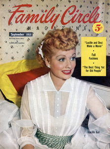 Lucille Ball on the cover of Family Circle magazineSeptember 1953** B.D.M. - Image 24293_1813