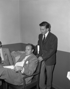 "Bob Hope and on ""The Bob Hope Show"" radio broadcastcirca 1954Photo by Herb Ball** B.D.M. - Image 24293_1816"