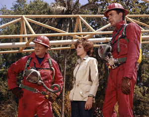 "John Wayne, Katharine Ross and Jim Hutton in ""Hellfighters""1968 Universal** B.D.M. - Image 24293_1894"
